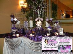 Candy Buffet - Purple and Silver Display