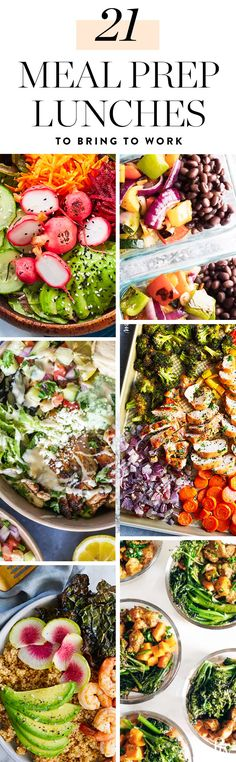 21 Meal Prep Lunch Recipes That Are Better Than an Expensive Salad #mealprep #mealpreprecipes #makeahead #worklunches #easylunches #mealpreplunches #lunchrecipes