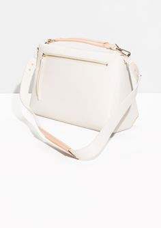 & Other Stories   Trapezoid Colour Blocked Leather Bag