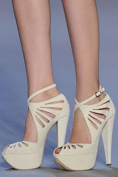 White tall shoes
