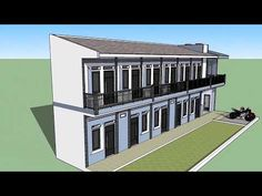 Big Modern Houses, Modern House Design, Apartment Plans, Apartment Design, Plano Hotel, Thai House, Beautiful House Plans, Boarding House, Container House Design