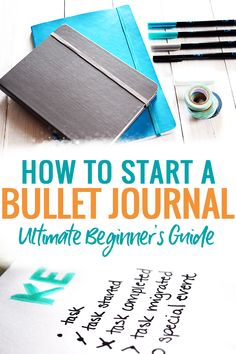 How to Start a Bullet Journal - a step by step guide to starting your first bullet journal including where to buy a bullet journal notebook, what bullet journal collections you need, and inspiration for weekly layouts. #bulletjournal #bujo