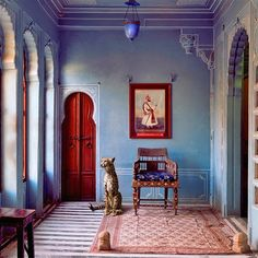 The Maharaja's Apartment, Udaipur City Palace. Karen Knorr, India Song. The Palaces of Rajasthan, Architectual Digest