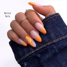 funky summer nail designs to impress your friends 10 ~ thereds.me - Nail Designs - Aycrlic Nails, Nail Manicure, Hair And Nails, Almond Nails Designs, Nail Designs, Nailart, Short Gel Nails, Fire Nails, Bright Nails