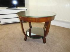 Arriving on Thursday - Original 1930s Art Deco Coffee Table which has been protected by a removable glass top.