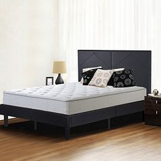 Olee Sleep 14 Inch Dura Metal Faux Leather Wood Slate Bed Frame Diamond Full 14PB01F -- You can find more details by visiting the image link. (This is an affiliate link)