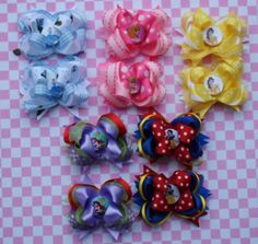 Princess bows..perfect collection for her first Disney World Trip