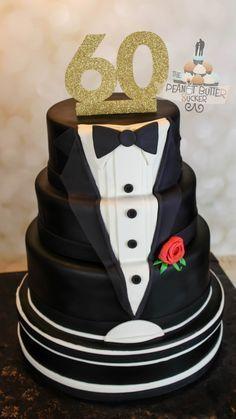 Tuxedo Cake For Grooms Man