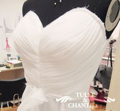 {Process Show Time} Seductive Strapless Ruching Beaded Evening Dress with Elegant Draped Skirt