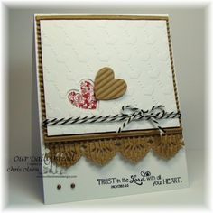 I like this embossed or crimped border design