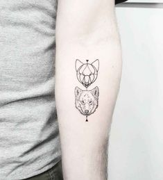 Wolf tattoos on the left inner forearm. Genie Tattoo, Wolf Tattoo Design, Tattoo Designs, Tattoo Wolf, Tattoo Ideas, Two Wolves Tattoo, Wolf Tattoos For Women, Tattoos For Guys, Small Eagle Tattoo
