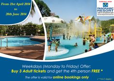 Buy 3 Adult tickets and get the 4th person free. (T&C Apply) #Offer #KarnalaResort #ResortNearMumbai #OneDayPicnic More info: http://bit.ly/1nMZgcg