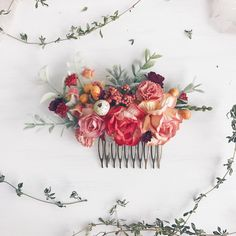 A personal favorite from my Etsy shop https://www.etsy.com/listing/553131971/burnt-fall-hair-comb-autumn-orange