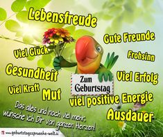 """Bunte Geburtstagskarte mit vielen Wünschen für das Leben """"Zum Geburtstag viel Glück, viel Erfolg, Gesundheit, gute Freunde, viel positive Energie..."""