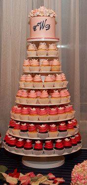 I definitely want a cup cake wedding cake someday =]