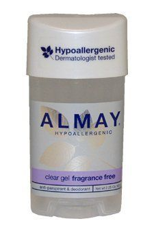 New Hypoallergenic Clear Gel Fragrance Free Deodorant Almay For Unisex 2.25 Ounce Without Irritation by OEM. Save 86 Off!. $2.99. We do not accept return if product has opened.