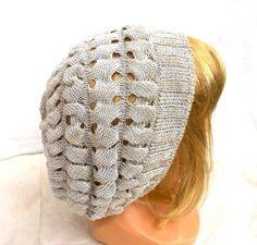 Knitted cotton summer beanie, cotton hat knit cap  from peonija handmadeshop by DaWanda.com