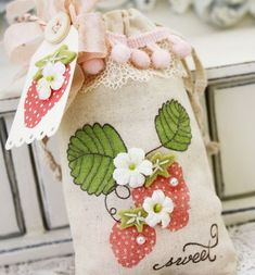 Stamped Strawberry Bag
