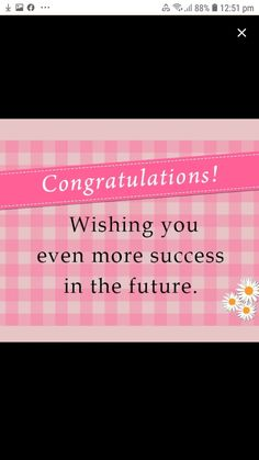 Congratulations And Best Wishes, Success