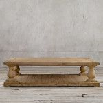 Restoration Hardware Wood Coffee Table