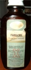 Paregoric...I can still smell and taste it. It was a staple in our medicine cabinet growing up.