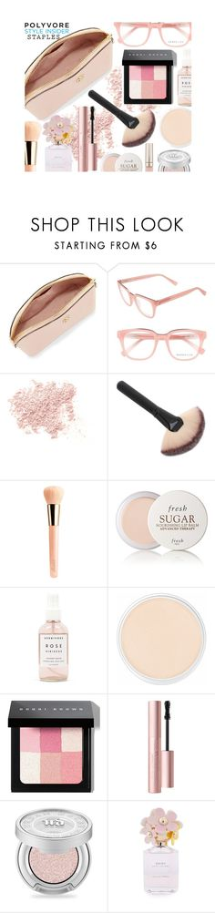 """""""Pink Beauty Bag"""" by juliehalloran ❤ liked on Polyvore featuring beauty, Tory Burch, Derek Lam, Bare Escentuals, Guerlain, Fresh, Herbivore, Clinique, Bobbi Brown Cosmetics and Too Faced Cosmetics"""
