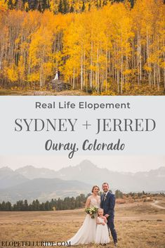 Real Life Fall Elopement | Sydney and Jerred in Ouray, Colorado. This sweet bride