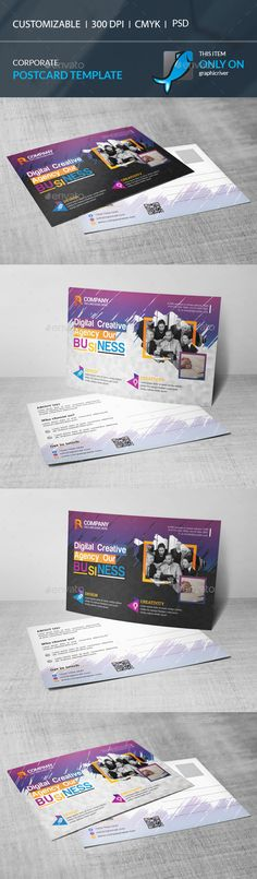 Postcard Design Template PSD