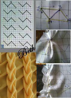 Trendy Origami Fashion Fabric Manipulation Smocking Tutorial Ideas Trendy Origami F Smocking Tutorial, Smocking Patterns, Sewing Patterns, Skirt Patterns, Moda Origami, Fabric Origami, Easy Fabric Flowers, Fabric Flower Tutorial, Origami Fashion