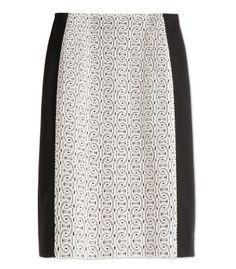 Diane von Furstenberg Mahalia Chains Lace Pencil Skirt
