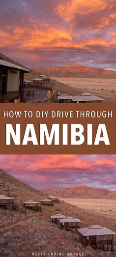 If you're planning on travel to Namibia you have to consider doing your own road trip! Explore its gorgeous landscapes at your own pace -- here's how!