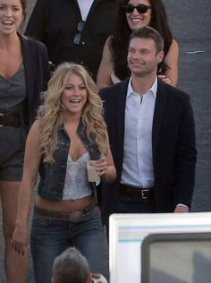 Ryan and Julianne Split — See Their Sweetest Moments: Ryan Seacrest visited Julianne Hough on the LA set of Dancing With the Stars in October 2011.