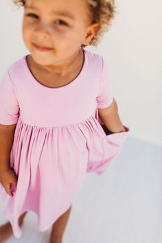 Every little girl's favorite dress! The perfect staple dress for back to school. Little Girl Outfits, Cute Outfits, Best Dress For Girl, Staple Dress, Girls Dresses, Summer Dresses, Special Dresses, Sweet Dress, Babydoll Dress