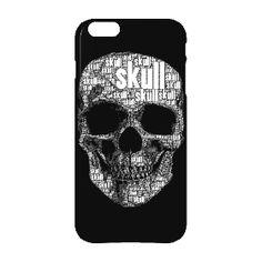 """Tutenkopf skull - iPhone 6 Plus Premium Case. Das Totenkopfmotiv, welches zusammengesetzt ist mit dem Wort """"skull"""" in verschiedenen Schriftgrößen.  Dein iPhone 6 Plus ist so individuell wie Du selbst. Mit dem Premium Case kannst Du es rundum Deinem persönlichen Stil anpassen.   Mehr Infos auf http://www.toller-laden.de/totenkopf-skull.html"""