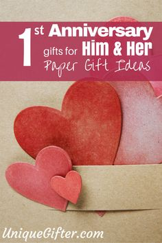 Paper 1st anniversary gift ideas, for him and for her... There are so many ideas in here, pinning to remind myself later for our first anniversary! I can't wait!