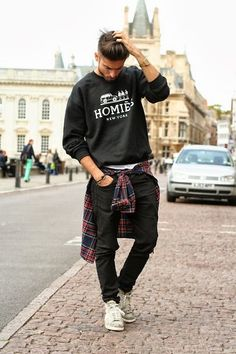 man style sweatshirt/ sweatshirt man/ homem estilo moletom/moletom masculino/moda homens/moletom/moda masculina/ fashion for men Outfits Hombre, Swag Outfits, Outfits For Teens, Boy Outfits, Spring Outfits, Swag Style, Style Casual, Men Casual, Casual Winter
