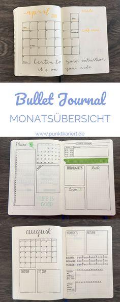 3 Ideen für deine Bullet Journal Monatsübersicht #bulletjournal #monthlylog