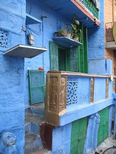 Blue house in the Blue City, Jodhpur, India