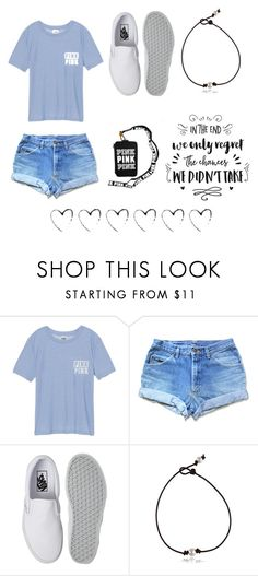 """""""A drop in the ocean is changing the weather I was praying that me and you just might end up together"""" by kolbee24 ❤ liked on Polyvore featuring beauty, Victoria's Secret and Vans"""
