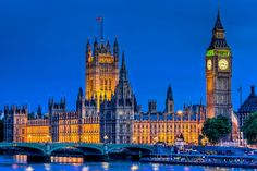 Parliament and Big Ben, London, England