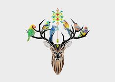 """Deer Birds"" - Threadless.com - Best t-shirts in the world"