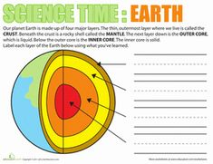 First Grade Earth \u0026 Space Science Worksheets: Science Time: Earth