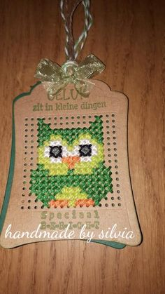 Cross Stitch Cards, Cross Stitch Embroidery, Cross Stitch Patterns, Abraham And Sarah, Stitching On Paper, Owl Card, Marianne Design, Card Patterns, Fabric Crafts