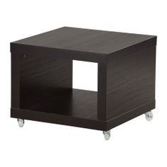 lack side table on casters - white - ikea. end tables for a