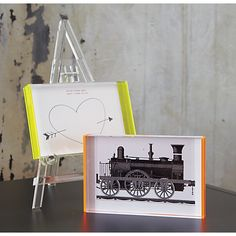 acrylic baby easel in view all accessories | CB2