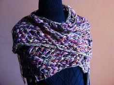 Chal de lana otoño-invierno sin flecos