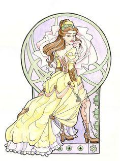 belle-steampunk Disney Style, Disney Love, Disney Magic, Disney Art, Disney Pics, Disney Fantasy, Steampunk Belle, Steampunk Fashion, Princesas Disney Steampunk