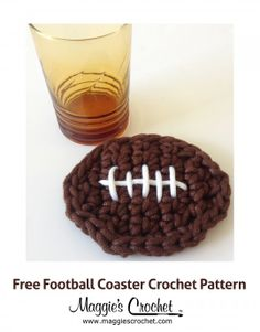 Father's Day Football Coaster Free Crochet Pattern