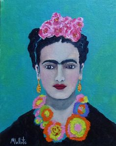 Mike White Original 10x8 Oil Painting ...Dear Frida....young and beautiful..1930 #Impressionism For sale on eBay.  SOLD