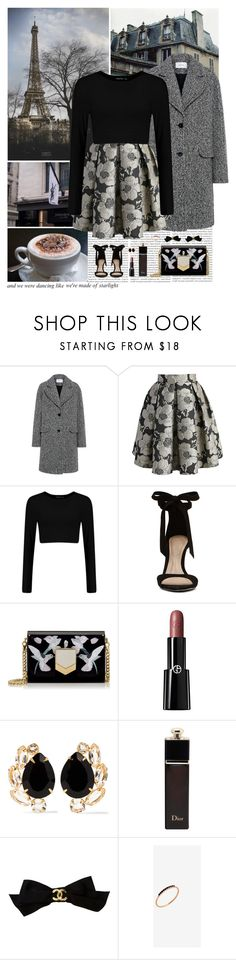 """Starlight..."" by allweknowisfalling ❤ liked on Polyvore featuring Oris, Carven, Chicwish, ALDO, Jimmy Choo, Giorgio Armani, Bounkit, Christian Dior, Chanel and Anine Bing"
